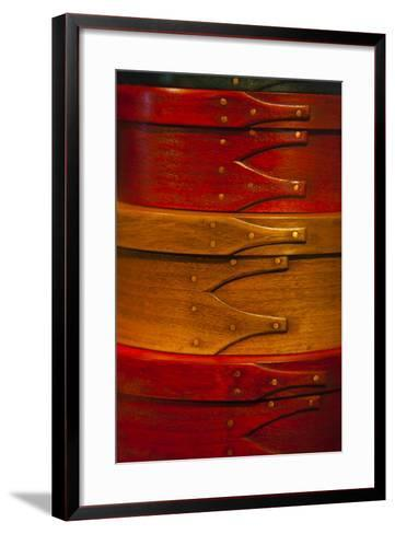 USA, Kentucky, Pleasant Hill, Colorful Shaker Boxes-Joanne Wells-Framed Art Print