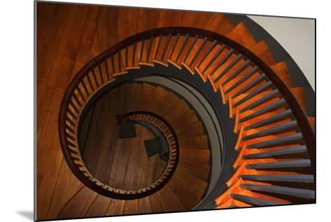 USA, Kentucky, Pleasant Hill, Spiral Staircase at the Shaker Village-Joanne Wells-Mounted Photographic Print