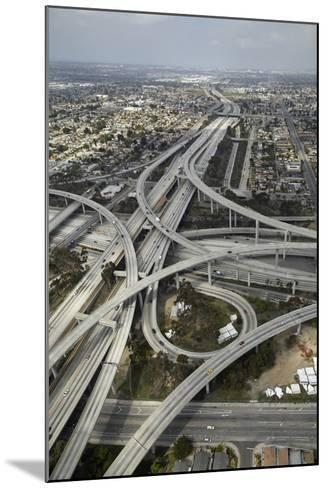 Los Angeles, Aerial of Judge Harry Pregerson Interchange and Highway-David Wall-Mounted Photographic Print