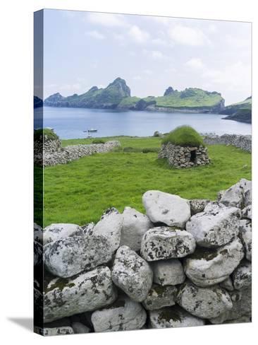 St Kilda Islands, Scotland. Island of Hirta, Traditional Cleit-Martin Zwick-Stretched Canvas Print