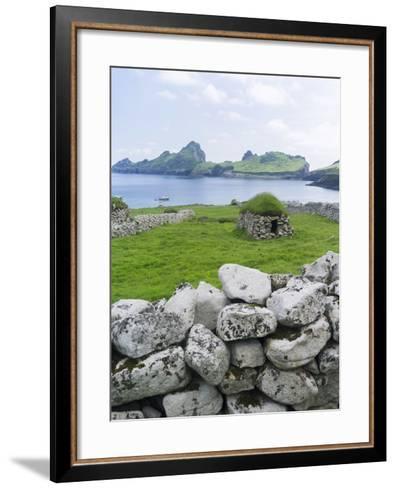 St Kilda Islands, Scotland. Island of Hirta, Traditional Cleit-Martin Zwick-Framed Art Print