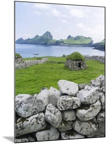 St Kilda Islands, Scotland. Island of Hirta, Traditional Cleit-Martin Zwick-Mounted Photographic Print