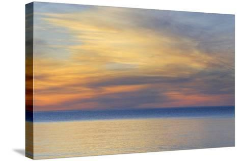 USA, Michigan, Upper Peninsula. Lake Superior Sunset-Jaynes Gallery-Stretched Canvas Print