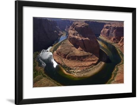 Horseshoe Bend, 1000 Ft. Drop to Colorado River-David Wall-Framed Art Print