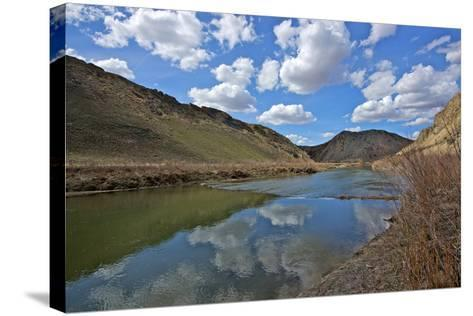 Humboldt River, the First Crossing of Carlin Canyon in Nevada-Richard Wright-Stretched Canvas Print