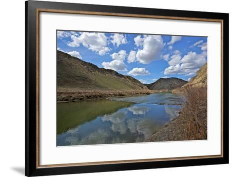 Humboldt River, the First Crossing of Carlin Canyon in Nevada-Richard Wright-Framed Art Print