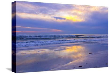 Florida, Sarasota, Crescent Beach, Siesta Key, Sunset over Ocean-Bernard Friel-Stretched Canvas Print