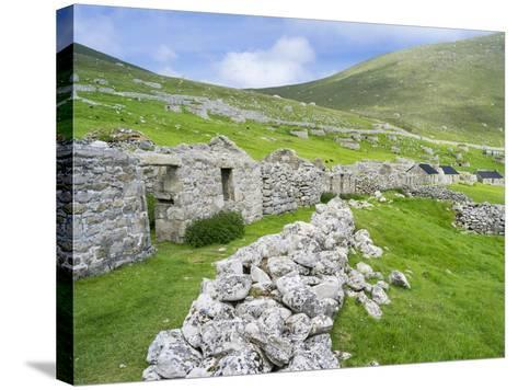 Scotland, St Kilda Islands, Hirta Island, Abandoned Settlement-Martin Zwick-Stretched Canvas Print