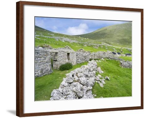 Scotland, St Kilda Islands, Hirta Island, Abandoned Settlement-Martin Zwick-Framed Art Print