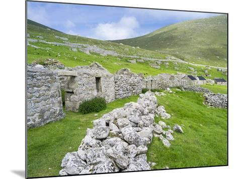 Scotland, St Kilda Islands, Hirta Island, Abandoned Settlement-Martin Zwick-Mounted Photographic Print