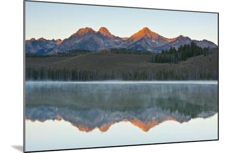 Sunrise at Sawtooth Mts, Little Redfish Lake, Stanley, Idaho-Michel Hersen-Mounted Photographic Print