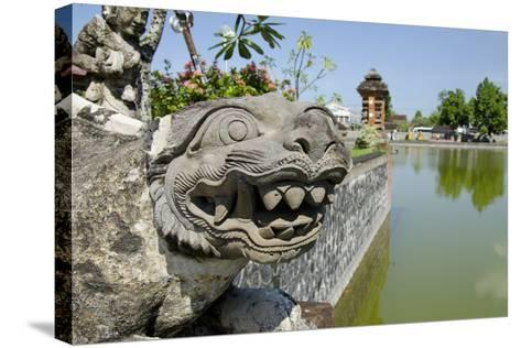 Indonesia, Mayura Water Palace. Statue of Mythical Creature-Cindy Miller Hopkins-Stretched Canvas Print