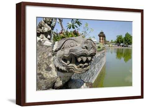 Indonesia, Mayura Water Palace. Statue of Mythical Creature-Cindy Miller Hopkins-Framed Art Print