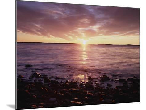 Maine, Sunrise over the Rocky Shoreline of the Atlantic Ocean-Christopher Talbot Frank-Mounted Photographic Print