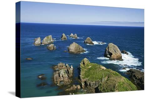 New Zealand, South Island. Seascape from Nugget Point-Jaynes Gallery-Stretched Canvas Print