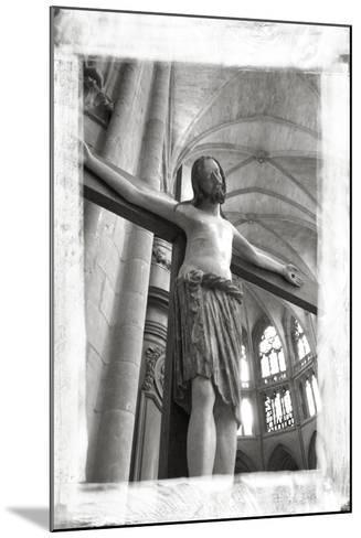 France, Burgundy, Nievre, Nevers. Crucifix at Nevers Cathedral-Kevin Oke-Mounted Photographic Print