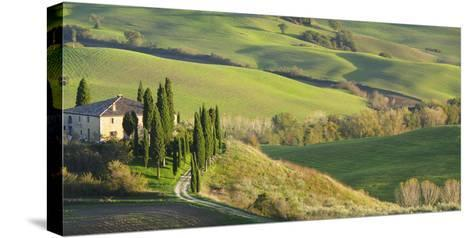 Italy, Tuscany, San Quirico Dorcia. Il Belvedere House-Julie Eggers-Stretched Canvas Print