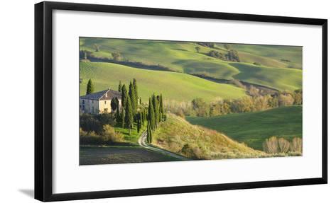 Italy, Tuscany, San Quirico Dorcia. Il Belvedere House-Julie Eggers-Framed Art Print