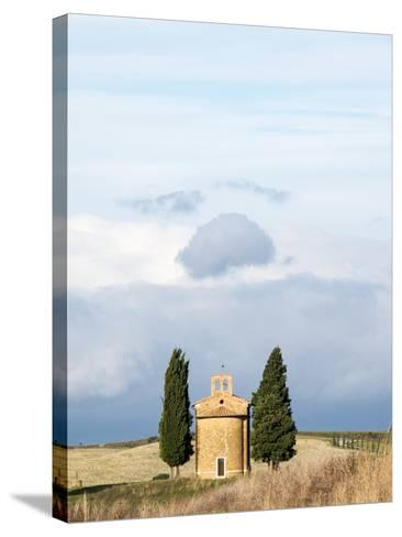Italy, Tuscany, San Quirico Dorcia. the Vitaleta Chapel-Julie Eggers-Stretched Canvas Print