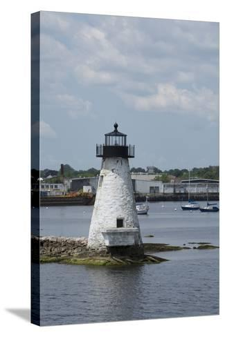 Massachusetts, New Bedford. Palmer Island Lighthouse-Cindy Miller Hopkins-Stretched Canvas Print