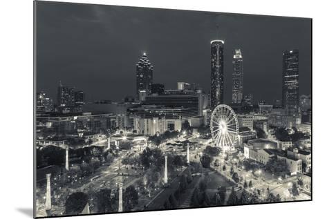 Georgia, Atlanta, Centennial Olympic Park, Elevated City View at Dusk-Walter Bibikow-Mounted Photographic Print