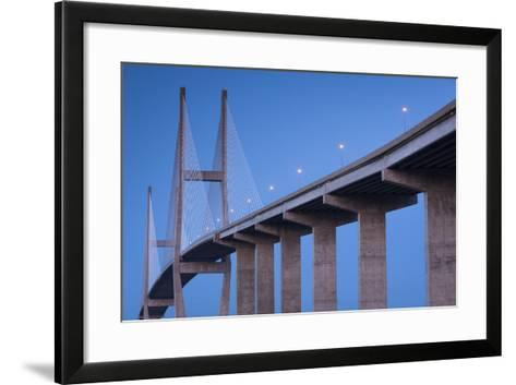 Georgia, Brunswick, Sidney Lanier Bridge, across the Brunswick River-Walter Bibikow-Framed Art Print