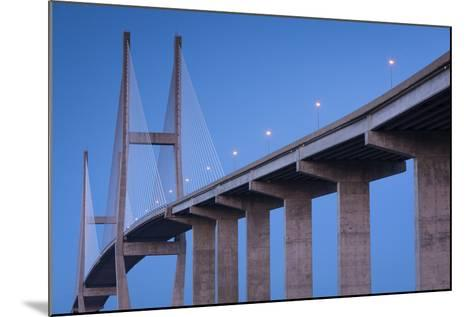Georgia, Brunswick, Sidney Lanier Bridge, across the Brunswick River-Walter Bibikow-Mounted Photographic Print