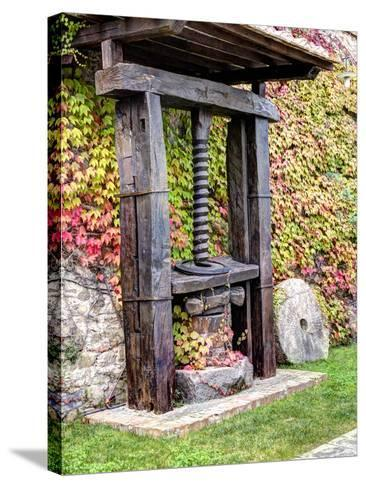 Italy, Tuscany. an Olive Oil Press on Display at a Winery in Tuscany-Julie Eggers-Stretched Canvas Print