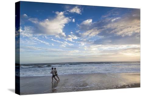 North Carolina, Outer Banks National Seashore, Kitty Hawk, Waterfront-Walter Bibikow-Stretched Canvas Print