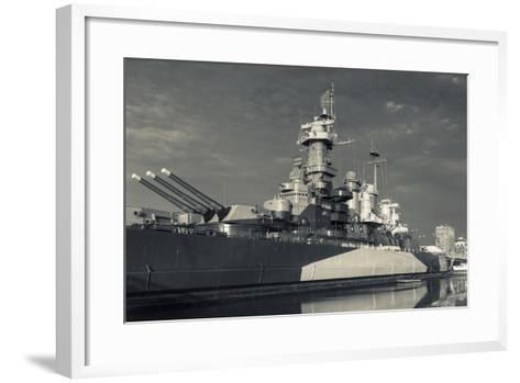 North Carolina, Wilmington, Battleship Uss North Carolina-Walter Bibikow-Framed Art Print