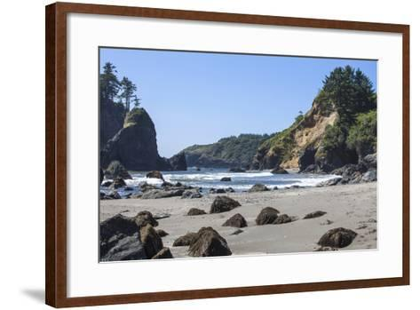 Trinidad, California. the Beach at Trinidad State Beach-Michael Qualls-Framed Art Print