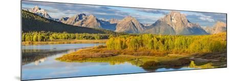 Wyoming, Grand Teton National Park. Panorama of Sunrise on Snake River-Jaynes Gallery-Mounted Photographic Print