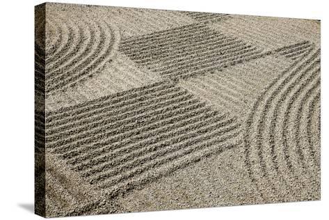 Oregon, Portland. Zen Patterns in Sand-Jaynes Gallery-Stretched Canvas Print