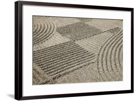 Oregon, Portland. Zen Patterns in Sand-Jaynes Gallery-Framed Art Print