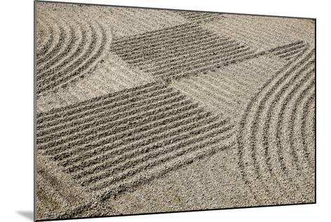 Oregon, Portland. Zen Patterns in Sand-Jaynes Gallery-Mounted Photographic Print