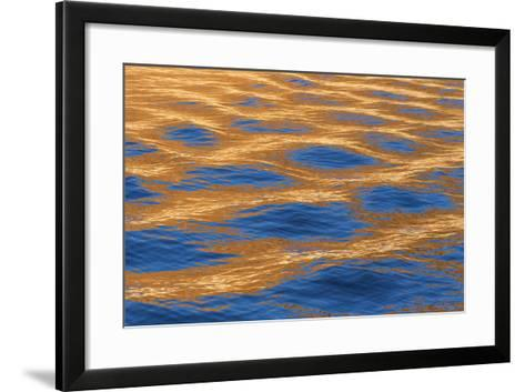 Utah, Glen Canyon Nra. Abstract of Cliff Reflection in Lake Powell-Jaynes Gallery-Framed Art Print