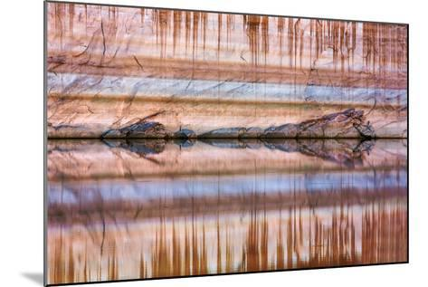 Utah, Glen Canyon Nra. Abstract Reflection of Stained Sandstone Wall-Jaynes Gallery-Mounted Photographic Print