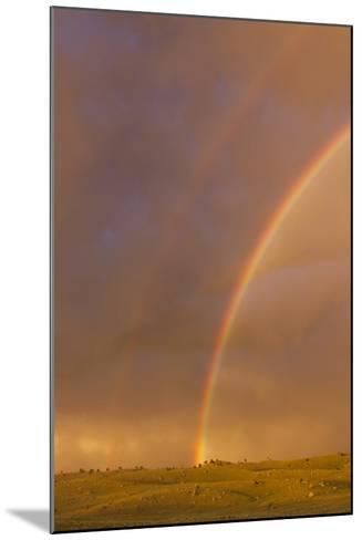 Wyoming, Sublette County, Double Rainbow in Stormy Sky-Elizabeth Boehm-Mounted Photographic Print