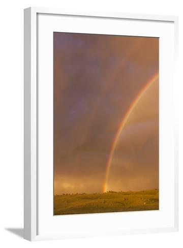 Wyoming, Sublette County, Double Rainbow in Stormy Sky-Elizabeth Boehm-Framed Art Print