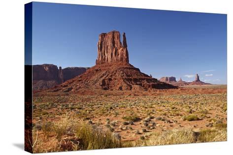 Utah. Arizona Border, Navajo Nation, Monument Valley, West Mitten-David Wall-Stretched Canvas Print