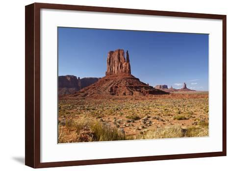 Utah. Arizona Border, Navajo Nation, Monument Valley, West Mitten-David Wall-Framed Art Print