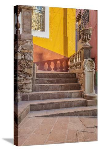 Mexico, Guanajuato, Steps and Shadows-Rob Tilley-Stretched Canvas Print