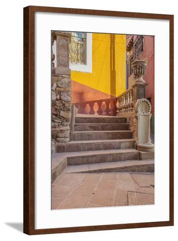 Mexico, Guanajuato, Steps and Shadows-Rob Tilley-Framed Art Print
