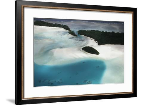 Micronesia, Palau, Ariel View of Rock Islands-Stuart Westmorland-Framed Art Print