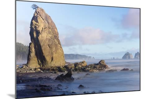 Wa, Olympic National Park, Rialto Beach, Seastack-Jamie And Judy Wild-Mounted Photographic Print