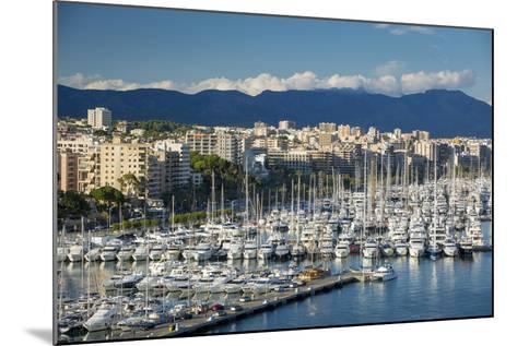 Boats Crowd the Marina in Palma De Mallorca, Mallorca, Spain-Brian Jannsen-Mounted Photographic Print