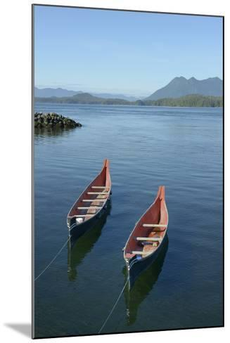 Canada, Vancouver Island. Native Canoes Anchored in Tofino Harbor-Kevin Oke-Mounted Photographic Print