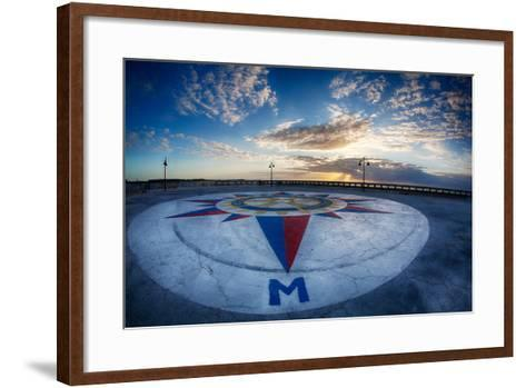 Early Morning Along Atlantic Ocean and the Key West Pier-Terry Eggers-Framed Art Print