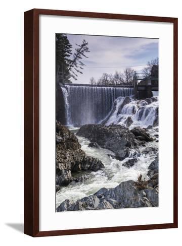 Vermont, Bradford, Waits River Falls, Waterfall and Rapids-Walter Bibikow-Framed Art Print