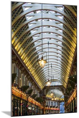 England, London, City, Leadenhall Market, Interior-Walter Bibikow-Mounted Photographic Print